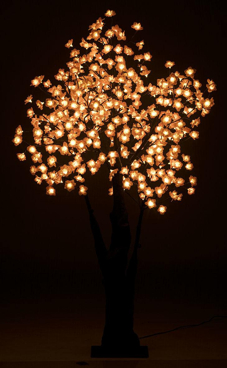 arbre led lumineux ceriser exterieur 150cm 384 leds ip44