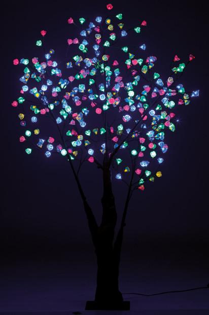 arbres lumineux led cerisier 180cm 336 fleurs led rvb