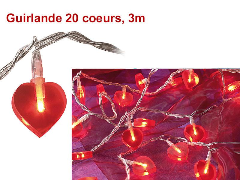 guirland led lumineuse rouge coeur vendue sur deco-lumineuse.fr