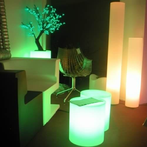 pouf lumineux led filaire venice deco lumineuse. Black Bedroom Furniture Sets. Home Design Ideas