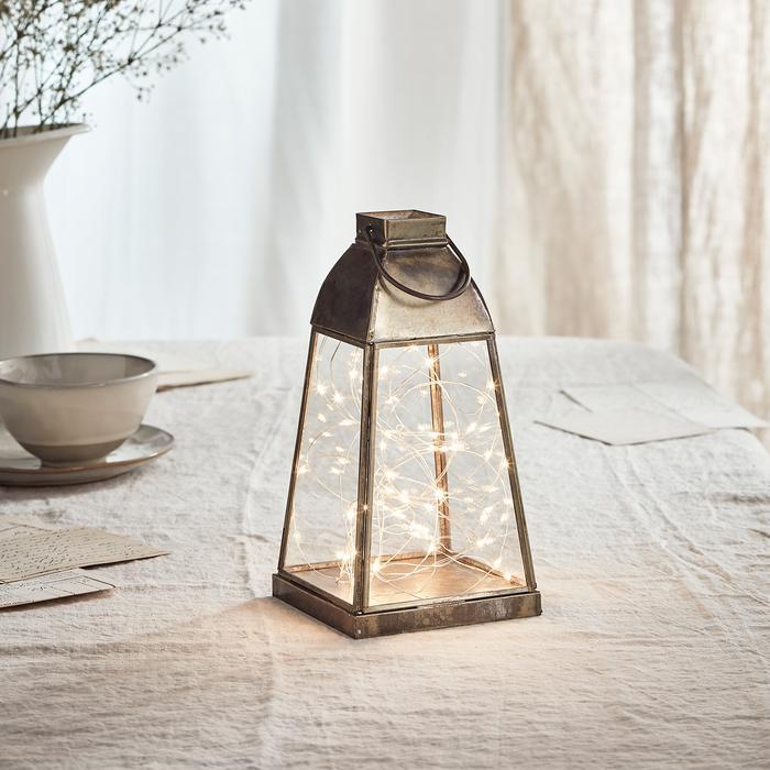 guirlande lumineuse led 50 micro led lanterne OTTO vendue sur deco-lumineuse.fr