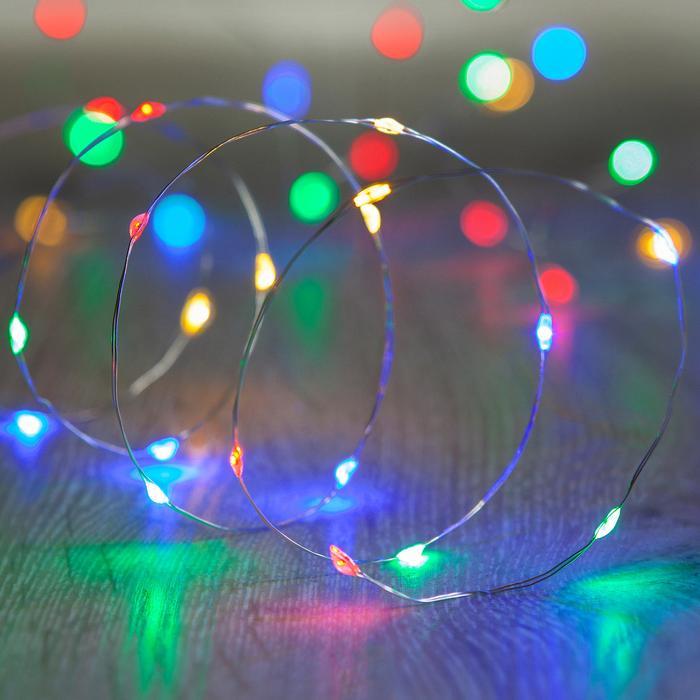 guirlande lumineuse led 20 micro led multicolores vendue sur deco-lumineuse.fr