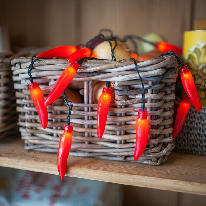 guirlande lumineuse led 20 led piments rouges vendue sur deco-lumineuse.fr