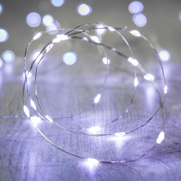 guirlande lumineuse 20 micro led fil argent vendue sur deco-lumineuse.fr