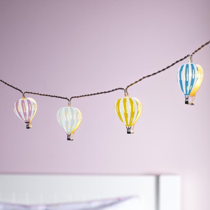 guirlande lumineuse led enfant 12 led montgolfieres vendue sue deco-lumineuse.fr