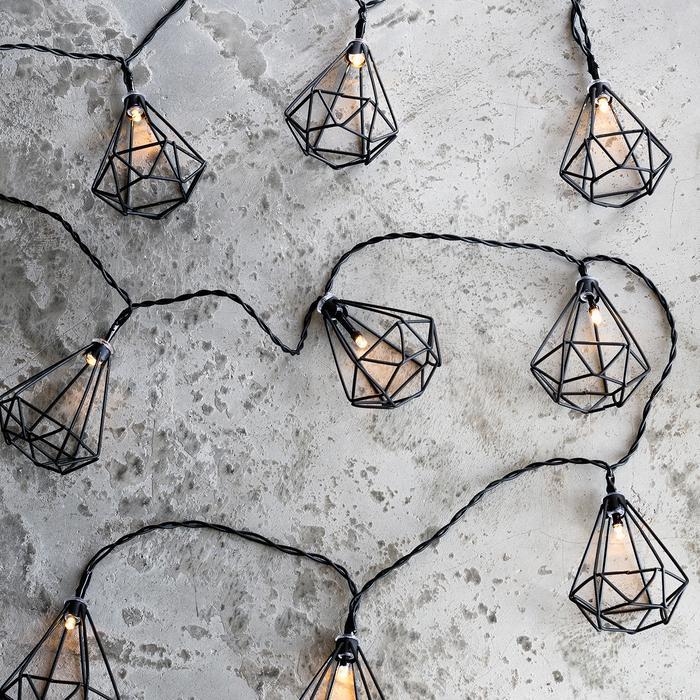 guirlande lumineuse led 10 led lanternes geometriques vendue sur deco-lumineuse.fr