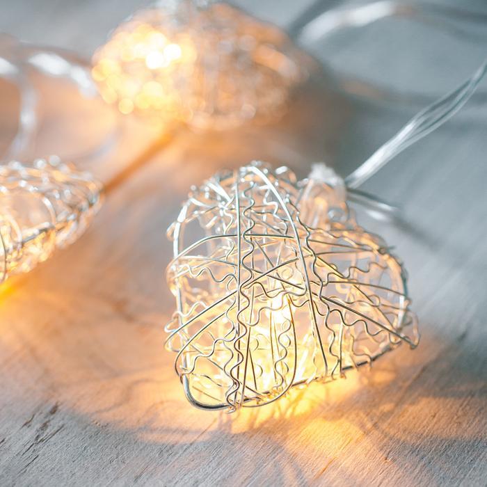 guirlande lumineuse led 10 coeurs argent grillage vendue sue deco-lumineuse.fr