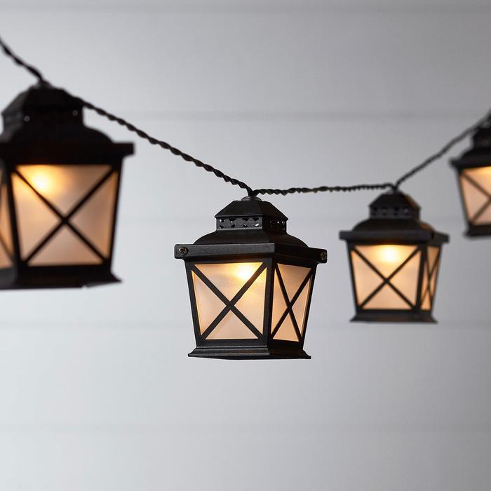 guirlande lumineuse led solaire 10 lanternes vendue sur deco-lumineuse.fr
