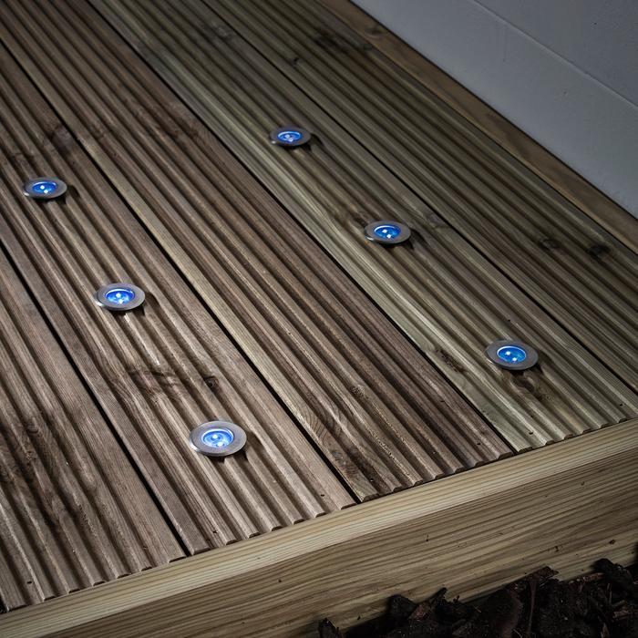 spot led solaire bleu pack de 6 vendu sur deco-lumineuse.fr