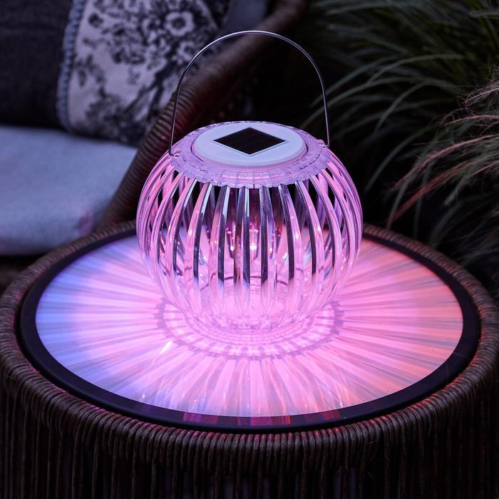 lanterne exterieure lumineuse led solaire rvb vendue sur deco-lumineuse.fr