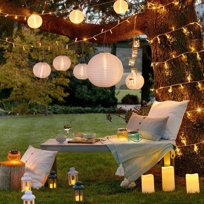 guirlande lumineuse led exterieur blanc chaud serie coeur raccordable 10m 80 m 800 led vendue sur deco-lumineuse.fr