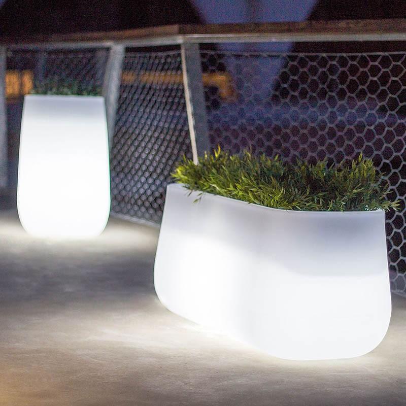 pot de fleur lumineux jardiniere lumineuse led exterieur vendue sur deco-lumineuse.fr