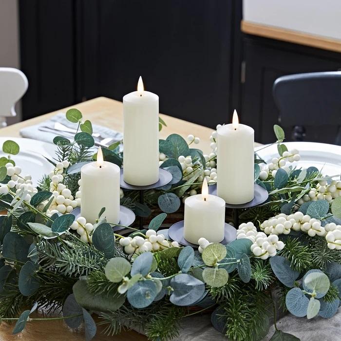 couronne lumineuse de noël bougies led deco vendue sur deco-lumineuse.fr