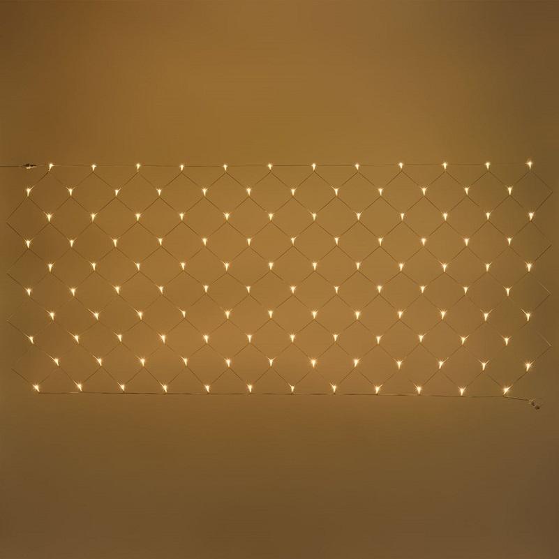 filet lumineux led exterieur hauteur 1 M largeur 4 M 240 led blanc chaud vendu sur deco-lumineuse.fr