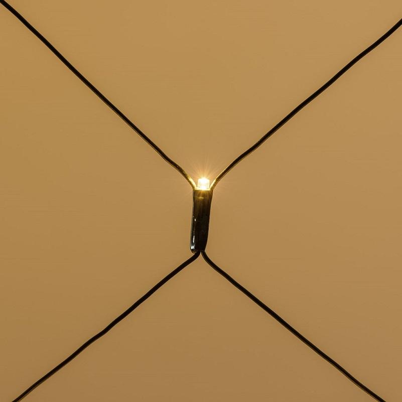 filet lumineux exterieur led hauteur cable vert 1 M largeur 4 M 240 led blanc chaud vendu sur deco-lumineuse.fr