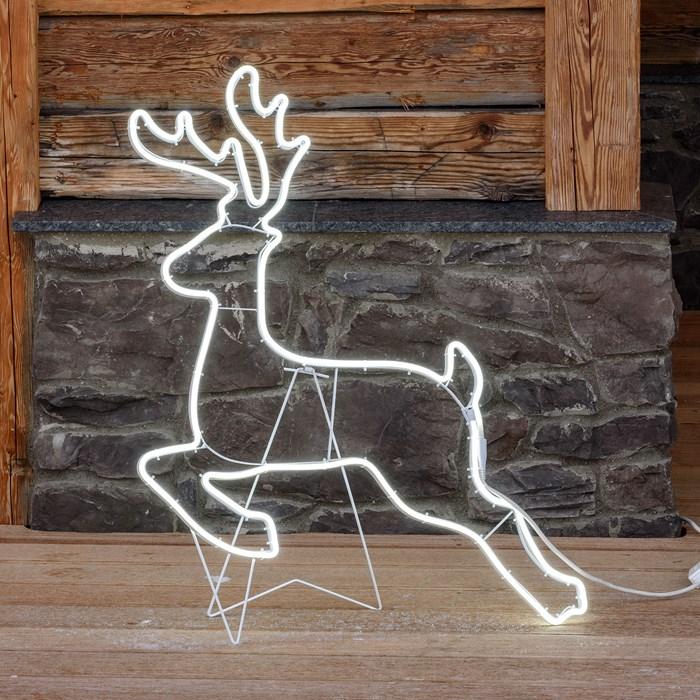 renne lumineux led de noël effet neon 80 cm 100 led vendu sur deco-lumineuse.fr