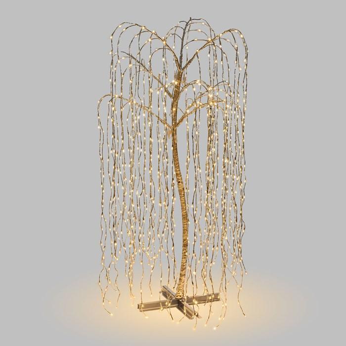 arbre lumineux led saule pleureur 2M 1024 LEDS blanc chaud vendu sur deco-lumineuse.fr
