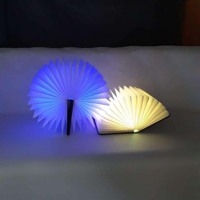 lampe led livre lumineux couverture noire vendue sur deco-lumineuse.fr