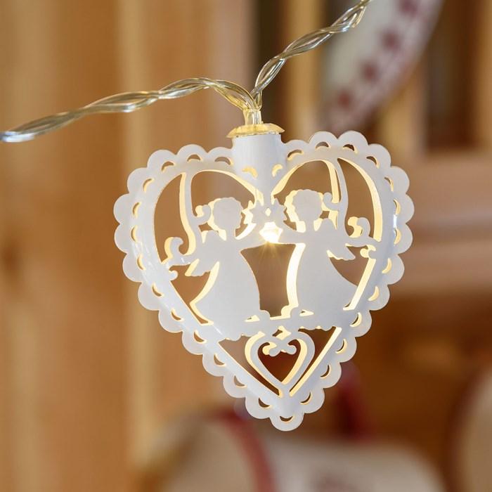 guirlande lumineuse led 10 coeurs et anges vendue sur deco-lumineuse.fr