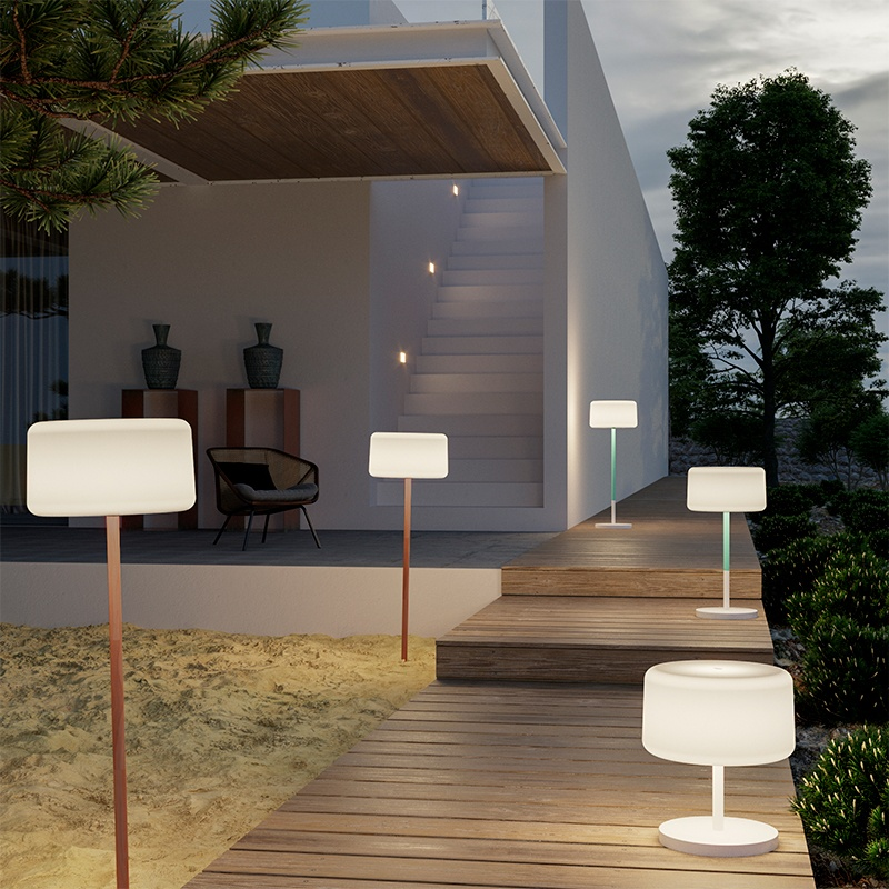 lampadaire sans fil design rechargeable rvb chloe plant vendu sur deco-lumineuse.fr