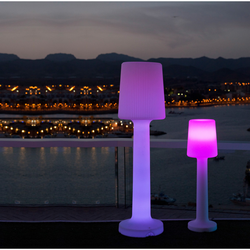 lampe sur pied design rvb exterieur sans fil rechargeable carmen 165 vendue sur deco-lumineuse.fr