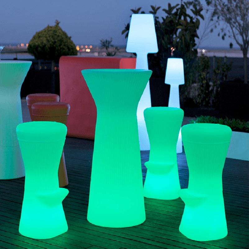 tabouret de bar led lumineux sans fil corfu 74 vendu sur deco-lumineuse.fr
