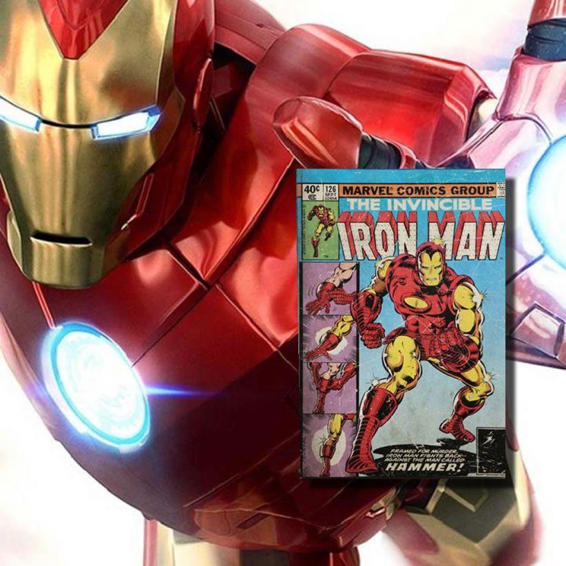 lampe sans fil livre-lumineux-iron-man-marvel vendu sur deco-lumineuse.fr
