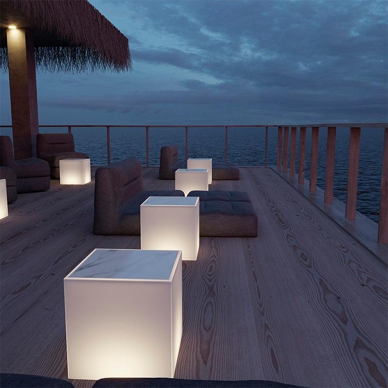 cube lumineux led avec fil 40 cm extérieur baro vendu sur deco-lumineuse.fr