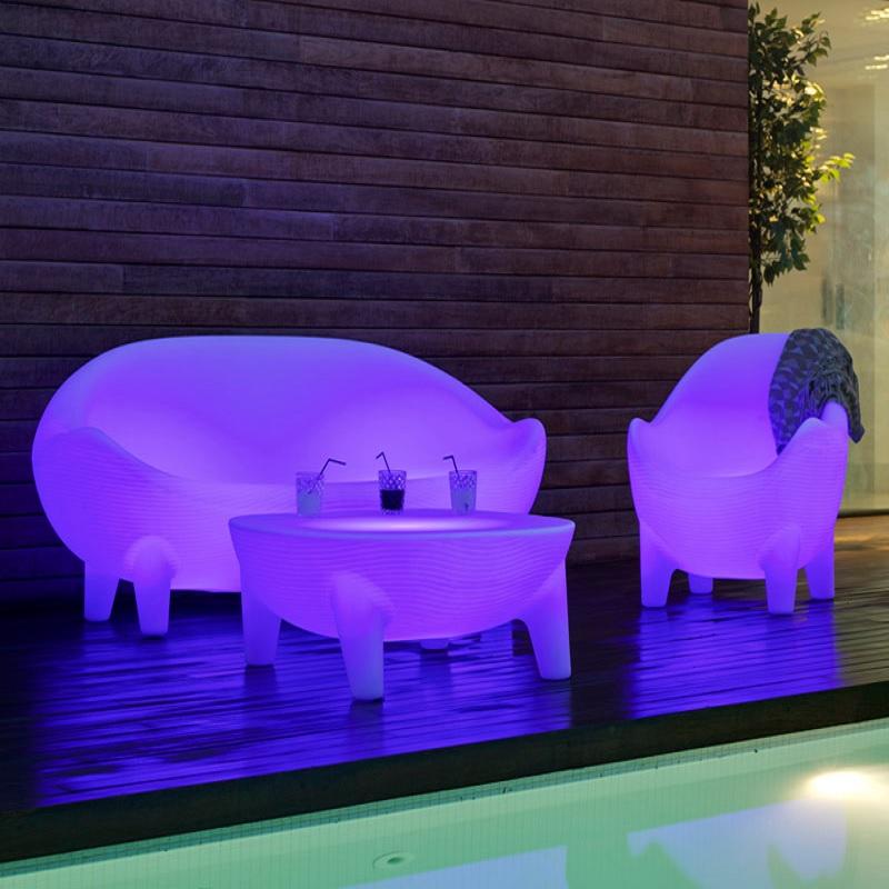 canapé lumineux led sans fil extérieur jamaique vendu sur deco-lumineuse.fr
