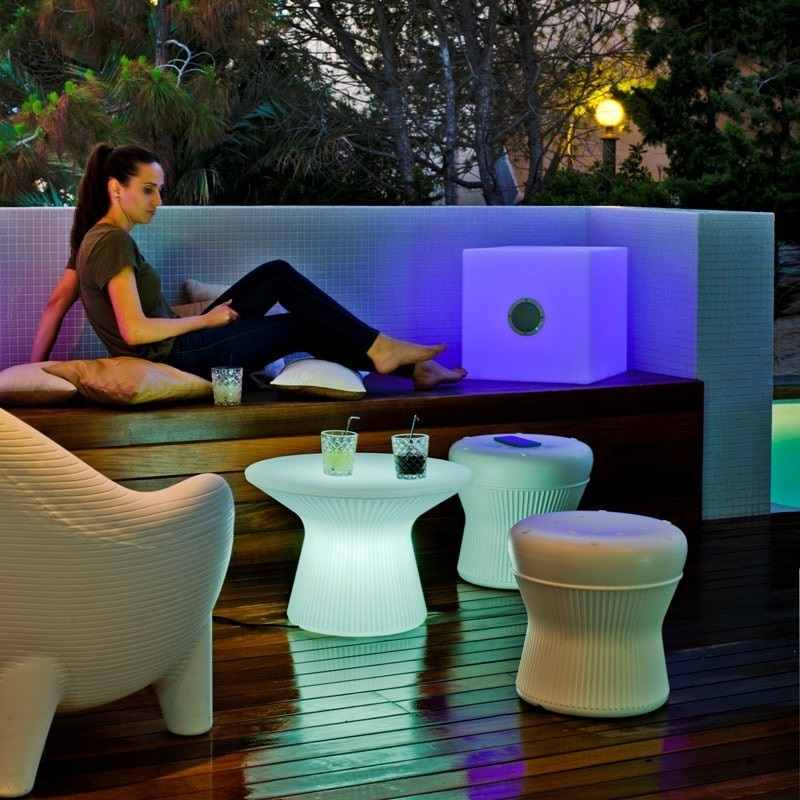 table basse led lumineuse sans fil extérieur capri 40 vendue su deco-lumineuse.fr