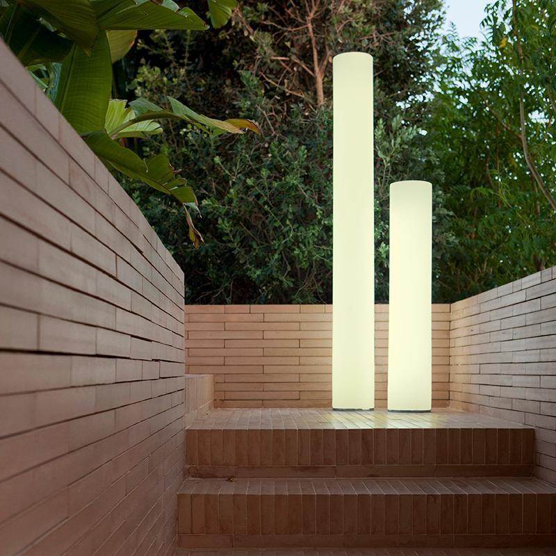 lampadaire colonne lumineuse led sans fil solaire fity 100 vendue sur deco-lumineuse.fr