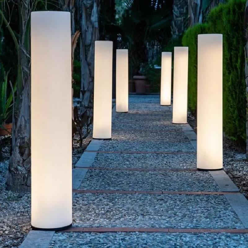 colonne lumineuse led sans fil solaire design vendue sur deco-lumineuse.fr