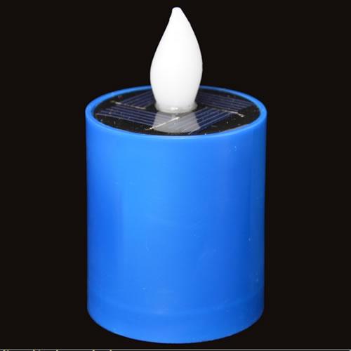 bougie led solaire bleue pack de 6 deco lumineuse. Black Bedroom Furniture Sets. Home Design Ideas
