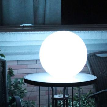 Boule lumineuse led sans fil patio 25 deco lumineuse for Luminaire exterieur led sans fil