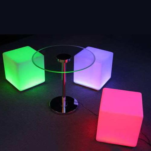 cube lumineux led sans fil nirvana 40cm deco lumineuse. Black Bedroom Furniture Sets. Home Design Ideas