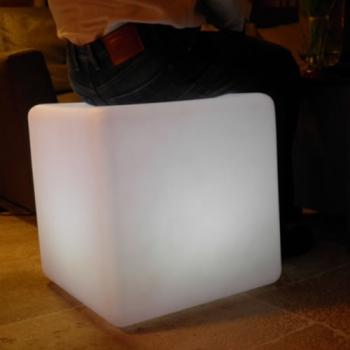 cube lumineux led sans fil nirvana 50 cm deco lumineuse. Black Bedroom Furniture Sets. Home Design Ideas