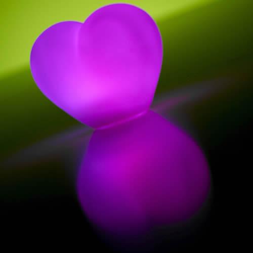 coeur lumineux led piles vendus sur www.deco-lumineuse.fr