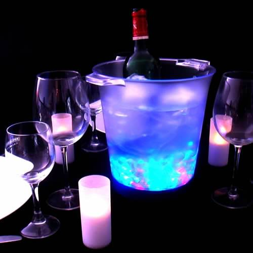 seau champagne lumineux led piles rvb deco lumineuse. Black Bedroom Furniture Sets. Home Design Ideas