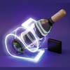 SUPPORT BOUTEILLE LUMINEUX LED