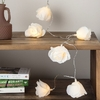 GUIRLANDE 20 LEDS ROSES BLANCHES
