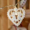 GUIRLANDE LUMINEUSE LED BLANCHE 10 COEURS ET ANGES