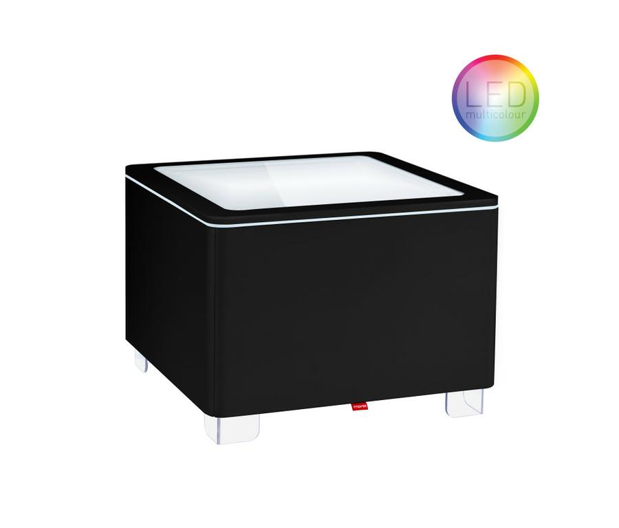 table basse lumineuse led sans fil rvb design interieur ora black vendu sur deco-lumineuse.fr