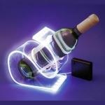 support bouteille lumineux led blanc  vendu sur www.deco-lumineuse.fr