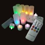bougie-a-led-rvb-rechargeables-multifonctions-plateau-de-12 vendu sur www.deco-lumineuse