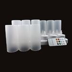 bougies-a-leds-rvb-rechargeables-multifonctions-plateau-de-12 vendu sur www.deco-lumineuse