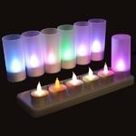 bougie-led-rvb-rechargeables-plateau-de-12 vendu sur www.deco-lumineuse