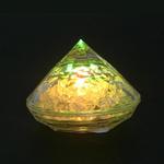 lampion led diamant jaune vendu sur www.deco-lumineuse.fr