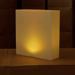 centre-de-table-lumineux-led-kooki-jaune vendu sur www.deco-lumineuse.fr