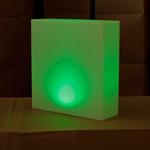 centre-de-table-lumineux-led-kooki-vert vendu sur www.deco-lumineuse.fr