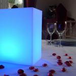 centre-de-table-lumineux-led-kooki-bleu vendu sur www.deco-lumineuse.fr